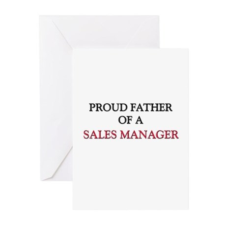 Proud Father Of A SALES MANAGER Greeting Cards (Pk