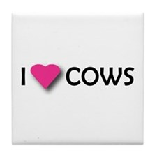 I LUV COWS! Tile Coaster