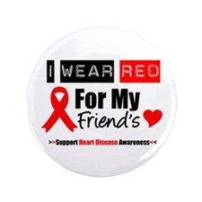 """I Wear Red Friend 3.5"""" Button (100 pack)"""