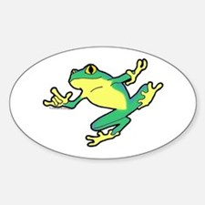 ASL Frog in Flight Oval Decal