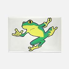 ASL Frog in Flight Rectangle Magnet