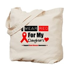 I Wear Red Daughter Tote Bag