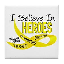 I Believe BLADDER CANCER Tile Coaster