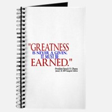 Greatness is Never a Given Journal