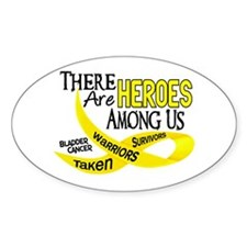 Heroes Among Us BLADDER CANCER Oval Decal
