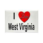 I Love West Virginia Rectangle Magnet (10 pack)