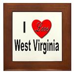 I Love West Virginia Framed Tile