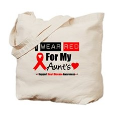 I Wear Red Aunt Tote Bag