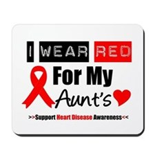 I Wear Red Aunt Mousepad