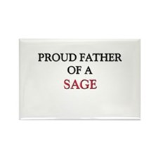 Proud Father Of A SAGE Rectangle Magnet (10 pack)