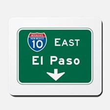 El Paso, TX Highway Sign Mousepad