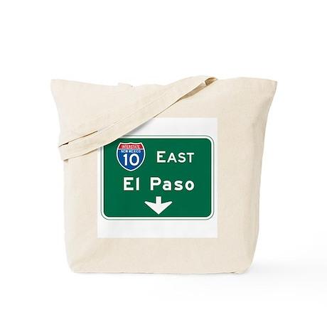 El Paso, TX Highway Sign Tote Bag
