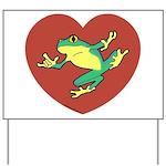 ASL Frog in Heart Yard Sign