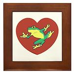 ASL Frog in Heart Framed Tile