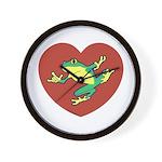 ASL Frog in Heart Wall Clock
