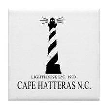 Cape Hatteras Lighthouse Tile Coaster