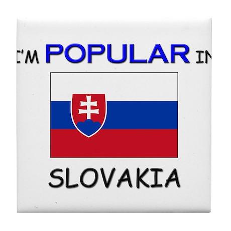 I'm Popular In SLOVAKIA Tile Coaster