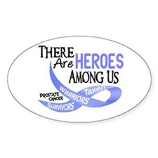 Heroes Among Us PROSTATE CANCER Oval Decal