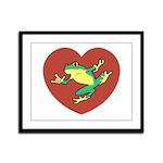 ASL Frog in Heart Framed Panel Print