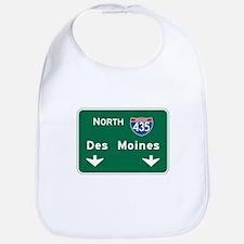 Des Moines, IA Highway Sign Bib