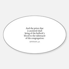 LEVITICUS 4:16 Oval Decal