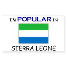 I'm Popular In SIERRA LEONE Rectangle Decal