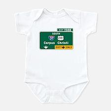 Corpus Christi, TX Highway Sign Infant Bodysuit