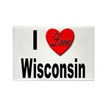 I Love Wisconsin Rectangle Magnet (10 pack)