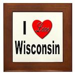 I Love Wisconsin Framed Tile