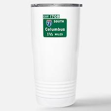 Columbus, OH Highway Sign Travel Mug
