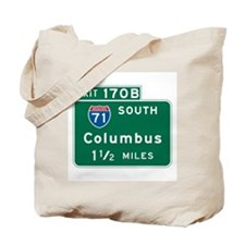 Columbus, OH Highway Sign Tote Bag