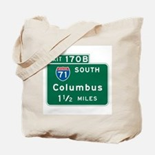 Columbus, OH Highway Sign Tote Bag