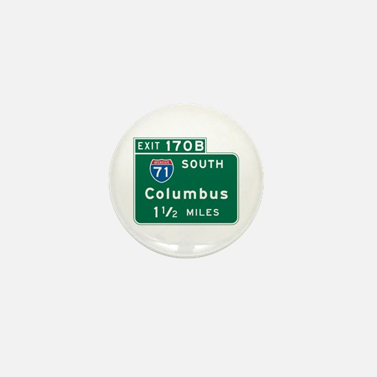 Columbus, OH Highway Sign Mini Button