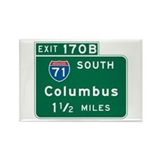 Columbus, OH Highway Sign Rectangle Magnet