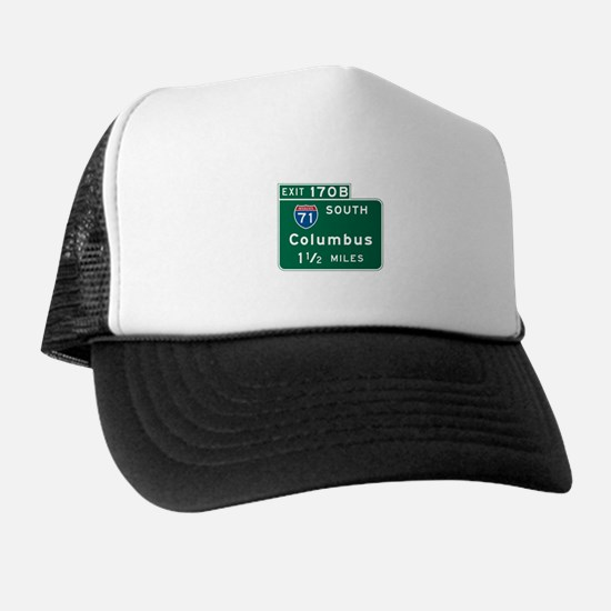 Columbus, OH Highway Sign Trucker Hat