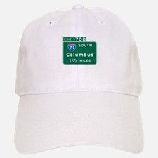 Columbus, OH Highway Sign Baseball Baseball Cap