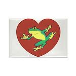 ASL Frog in Heart Rectangle Magnet (10 pack)
