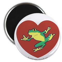 ASL Frog in Heart Magnet
