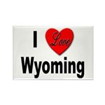 I Love Wyoming Rectangle Magnet (10 pack)