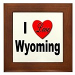 I Love Wyoming Framed Tile