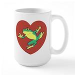 ASL Frog in Heart Large Mug