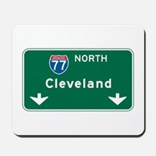 Cleveland, OH Highway Sign Mousepad