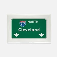 Cleveland, OH Highway Sign Rectangle Magnet