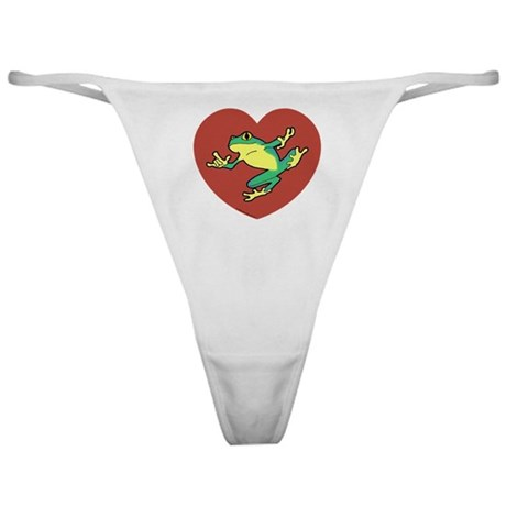 ASL Frog in Heart Classic Thong