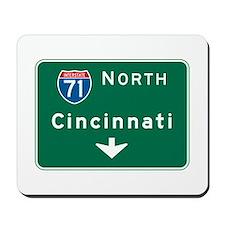 Cincinnati, OH Highway Sign Mousepad
