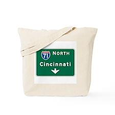 Cincinnati, OH Highway Sign Tote Bag