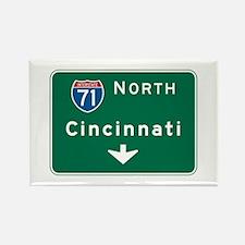 Cincinnati, OH Highway Sign Rectangle Magnet (10 p