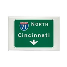 Cincinnati, OH Highway Sign Rectangle Magnet