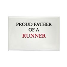 Proud Father Of A RUNNER Rectangle Magnet (10 pack