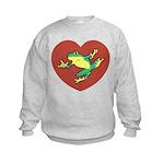 ASL Frog in Heart Kids Sweatshirt